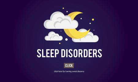 Sleep Apnea Insomnia Sleep Deprivations Disorders Sleepless Concept Фото со стока
