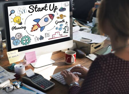 start up: Start up Launch Ideas Motivation Mission Concept