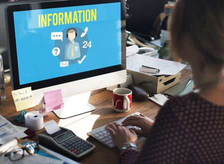 place to learn: Information Data Content Helpdesk Communication Concept