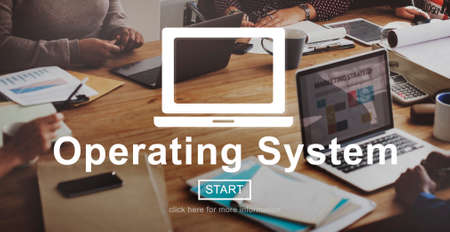 operating system: Operating System Operate Opration Working Concept Stock Photo