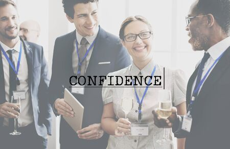 trustworthiness: Confidence Reliability Conviction Reliability Concept Stock Photo