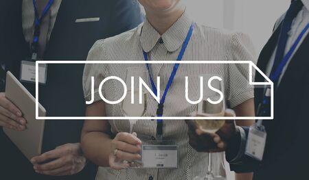 wine register: Join Us Membership Recruit Register Concept