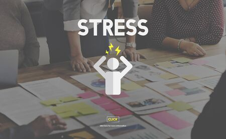 tension: Stress Management Tension Anxiety Strain Rehabilitation Concept