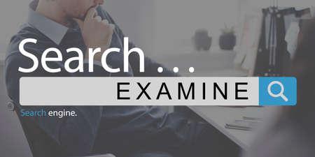 to examine: Examine Survey Brainstorm Check Analyse Assess Concept
