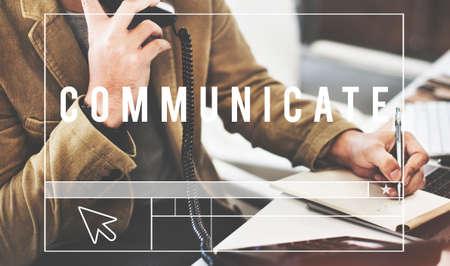 comunicar: Connect Communicate Corporate Business Concept