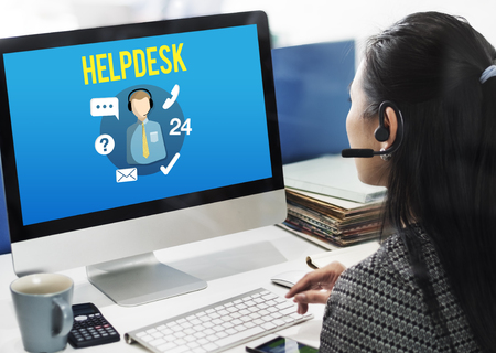 Helpdesk Customer Support Communication Enquiry Concept Stock Photo - 56685346