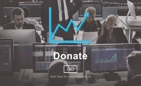 give charity: Donate Give Charity Help Website Online Concept Stock Photo