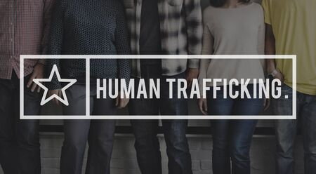 abduction: Human Trafficking Abduction Crime Illegal Concept Stock Photo