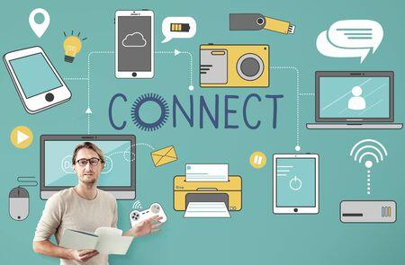 trainer device: Connect Connection Devices Technology Communicztion Concept