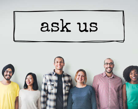 enquire: Ask Us Enquire Question Information Contact Concept Stock Photo