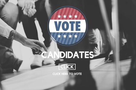candidates: Candidate Candidates Choosing Diversity Vote Concept Stock Photo
