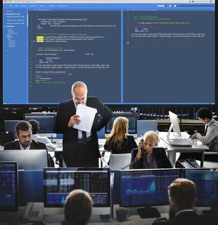 syntax: Software Programming Web Development Concept Stock Photo