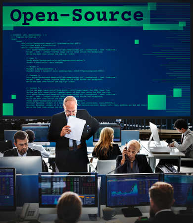 opensource: Open-Source Access Coding Source Technology Concept