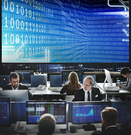 Binary codes on the big screen in office