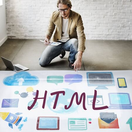 html: HTML Computer Language Internet Online Technology Concept