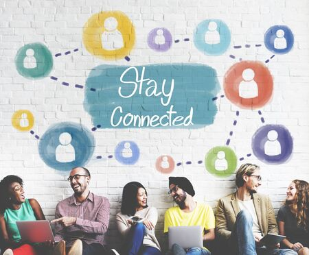 to stay: Stay Connected Communication Networking Internet Concept