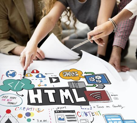 html: HTML Connectiion Links Digital Communication Concept