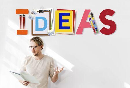 Ideas Creative Art Design Word Concept