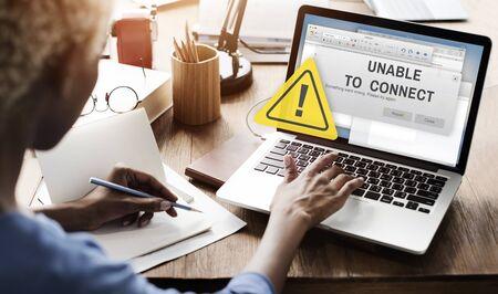 notification: Unavailable Unable Connect Notification Concept