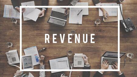 cash flow: Revenue Banking Finance Cash Flow Concept Stock Photo