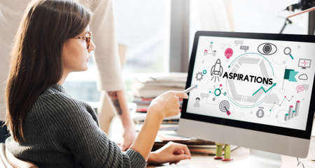 desire: Aspirations Ambition Desire Goals Target Expectation Concept Stock Photo