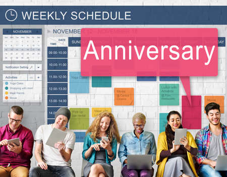 remember: Anniversary Annual Celebration Remember Yearly Concept Stock Photo