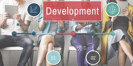 growth: Development Growth Progress Icon Concept