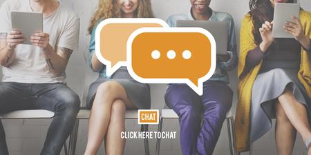 Message Communication Speech Bubble Concept Banco de Imagens