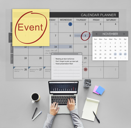 happening: Event Celebration Occasion Happening Schedule Concept