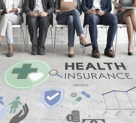 Seguro de Salud Assurnace Médico Concepto de seguridad Riesgo
