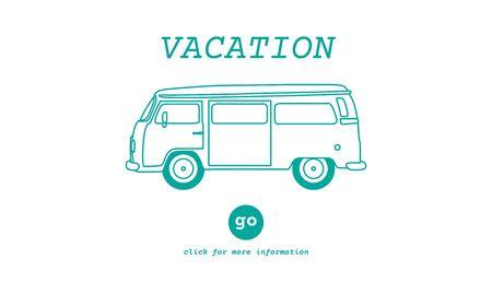 recess: Vacation Traveling Adventure Journey Destination Van Concept Stock Photo