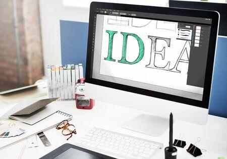 Idea Creative Design Editorial Vision Concept Stock Photo