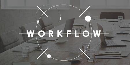 effectiveness: Workflow Effective Efficiency Planning Process Concept Stock Photo