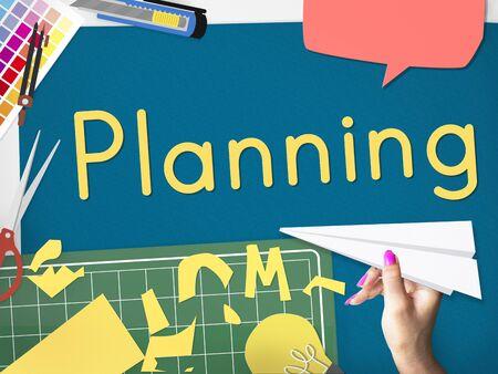 Plan Planning Ideas Business Concept Stock Photo