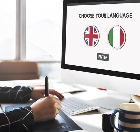 language dictionary: Language Dictionary English Italian Concept