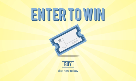 gamblers: Gambling Jackpot Luck Enter to Win Lotto Ticket Concept Stock Photo