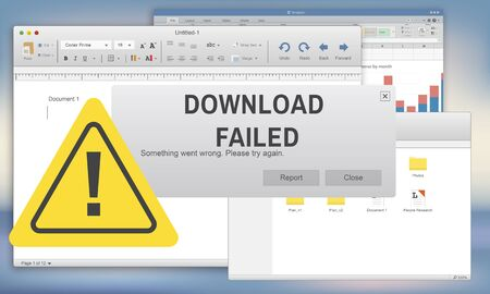 inability: Download Failed Data Stop Loss Transfer Network Concept