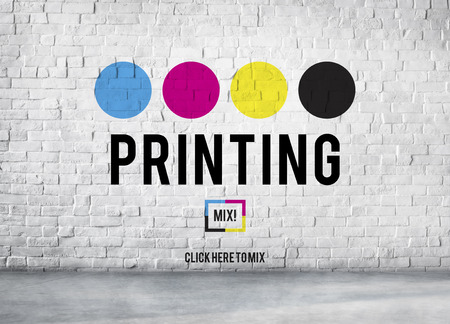 Printing Process Offset Ink Color Industry Media Concept