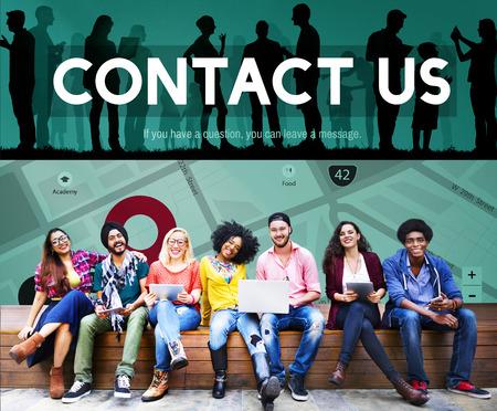 correspondencia: Contact Us Assistance Business Correspondence Concept