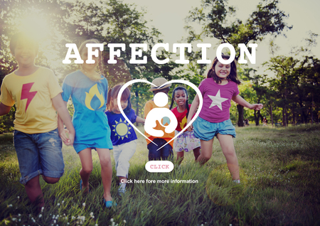 child care: Affection Care Family Child Love Concept