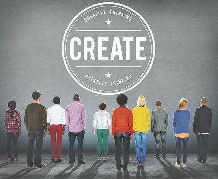 creativity: Create Creativity Ideas Innovation Concept