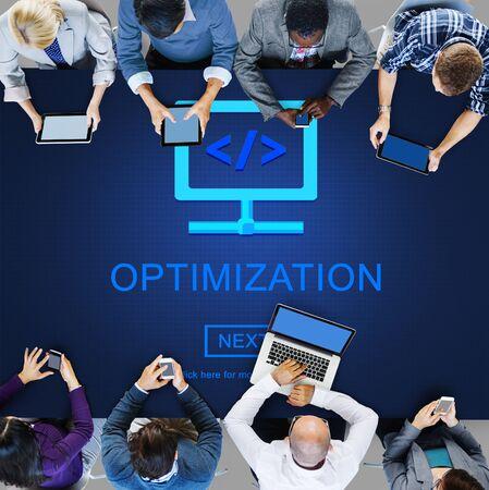 communication capability: Optimization Accuracy Producitvity Efficiency Quality Concept