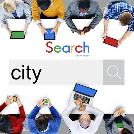 business district: City Business District Place Location Concept