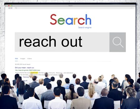 reach out: Reach Out Correspond Contact Connect Care Help Concept