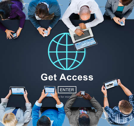 attainable: Get Access Attainable Availability Concept Stock Photo