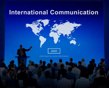 comunicar: International Communication Global Communicate Concept