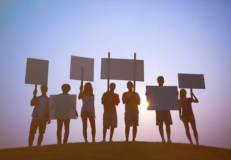 conflictos sociales: Protesta Foto de archivo