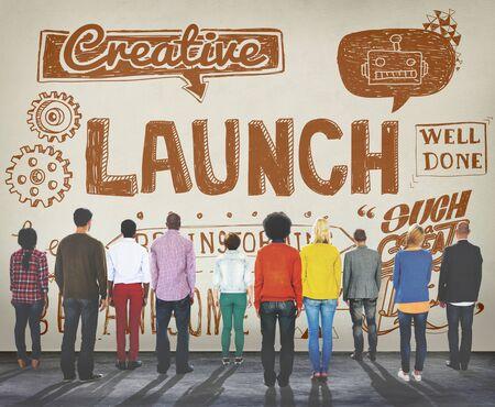 start up: Launch Start up Inspiration Creative Sketch Concept