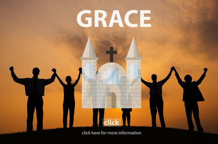 christian community: Grace Elegance Faith Religion Spirit Worship Concept Stock Photo