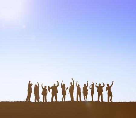 Business People Celebrate Achievement Success Concept Stock Photo